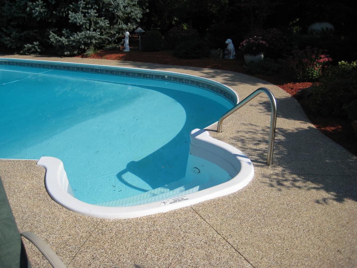 Polyaspartic floor coatings epoxy polished concrete - White oaks swimming pool london ontario ...